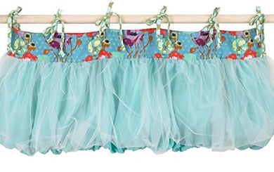 Cotton Tale Designs Lagoon Valance, Turquoise/Purple/Orange/Green
