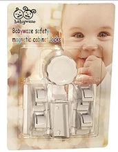 Load image into Gallery viewer, Babywaze Magnetic Safety Locks 4Pcs Locks+1Pc Per Set, White, 35X40X40Mm