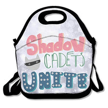 Load image into Gallery viewer, Amurder Ldshadowlady Cadets Unite Insulated Personalized Tote Lunch Food Bag Black