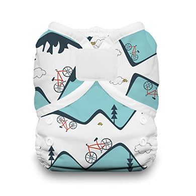Thirsties Duo Wrap Cloth Diaper Cover, Hook And Loop Closure, Mountain Bike Size One (6-18 Lbs)