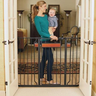 Regalo Home Accents Black 38 Inches Extra-Tall Baby Gate With 2 Included Extension Kits By (Regalo)