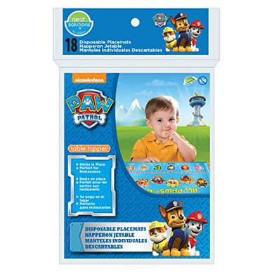 Neat Solutions Paw Patrol Table Topper Disposable Stick-On Placemats - 18 Count