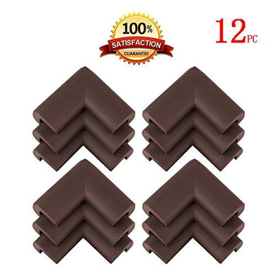 Kinglake 16 Pcs Soft Thick Corner Guards,Table Furniture Baby Proofing Corner Guards Bumpers,Baby Safety Protectors,Furniture Corner Bumpers,Brown