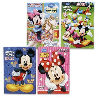 1 Piece Of 96Pp Disney Coloring Book - 4 Assorted Color (Random Selection)
