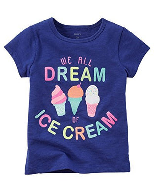 Carters Baby Girls Ice Cream Dream Tee Blue 3M