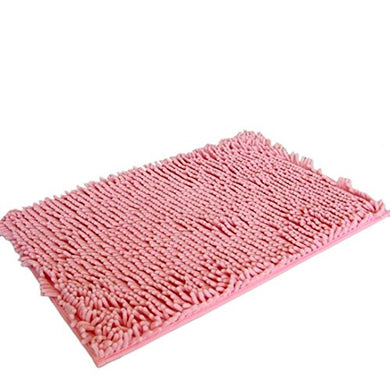 Hunputa Soft Shaggy Non Slip Absorbent Bath Mat Bathroom Shower Rugs Carpet (Pink)