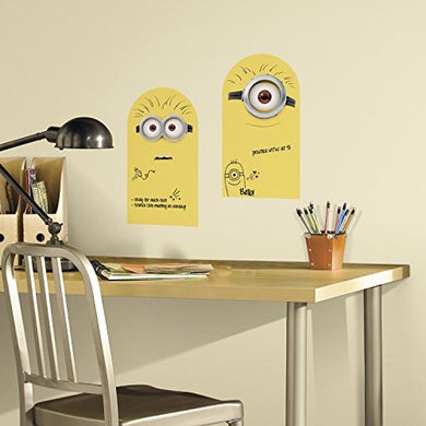 2 New Dry Erase Minions Wall Decals Despicable Me Stickers Kids Bedroom D?Cor