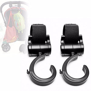 Hilinker Universal Stroller Hooks Multi Purpose Stroller Clips, Perfect Stroller Accessories Clips On Any Baby Stroller Travel Systems, Hanger For Secure Purses, Diaper Bags, Shopping Bags