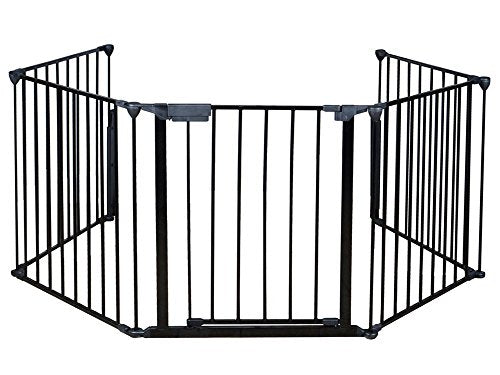 Costzon Fireplace Fence Baby Safety Fence Hearth Gate Bbq Metal Fire Gate Pet Dog Cat Christmas Tree Fence
