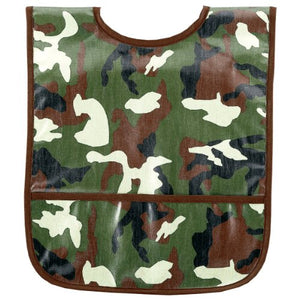 Am Pm Kids! Laminated Bib, Green Camo, Small