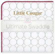 Load image into Gallery viewer, Swaddledesigns Ultimate Swaddle Blanket, Made In Usa, Premium Cotton Flannel, College Of Charleston, Little Cougar