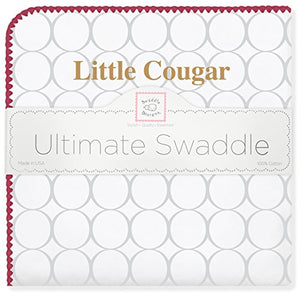 Swaddledesigns Ultimate Swaddle Blanket, Made In Usa, Premium Cotton Flannel, College Of Charleston, Little Cougar