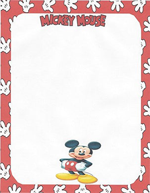 Mickey Mouse Posing Stationery Printer Paper 26 Sheets