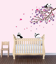 Load image into Gallery viewer, Flower Decals, Flowers In Tree Stickers, Baby Girls Room Dcor