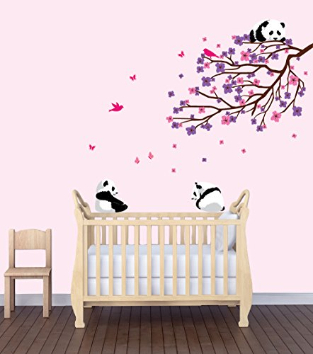 Flower Decals, Flowers In Tree Stickers, Baby Girls Room Dcor