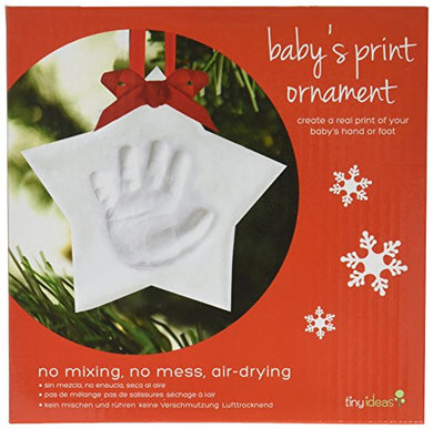 Tiny Ideas Baby'S No Bake Handprint Keepsake Holiday Ornament, Star