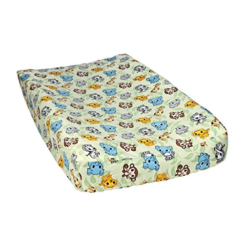 Trend Lab Chibi Zoo Changing Pad Cover, Sage