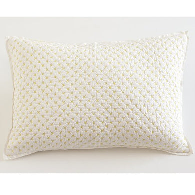 Auggie Quilted Decorative Pillow Cover, Cross Stitch/Fern