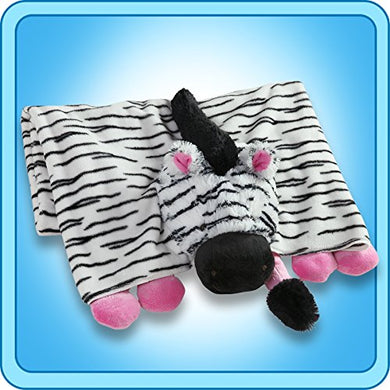 The Original My Pillow Pets Zebra Blanket (Black, White And Pink)