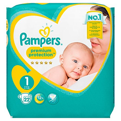 Pampers New Baby Nappies Carry Pack, Size 1
