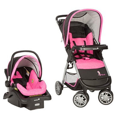 Disney Minnie Pop Travel System Infant Stroller Car Seat Combo Baby Shower Gift For Girls