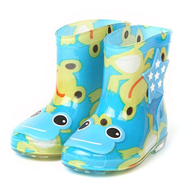 Boys' Rain Boots Children Waterproof Shoes (Age 2-6 Years)