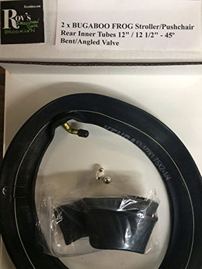 2 (Two) X Bugaboo Frog Stroller/Pushchair Inner Tubes 12  /12 1/2  Bent Valve With Free Upgraded Valve Caps $4.99 Value