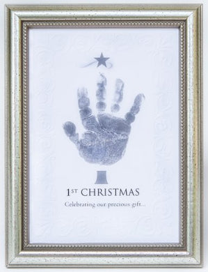 The Grandparent Gift Frame Wall Dcor, Baby'S First Christmas Frame For Handprint