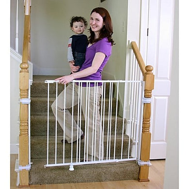 Regalo 2-In-1 Extra Tall Top Of Stairs Gate | Meets All Current Safety Standards. By Regalo.