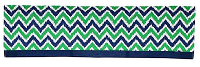 Green And Navy Blue Zig Zag Window Valance