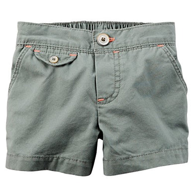 Carter'S Girls' Green 5-Pocket Shorts (5)