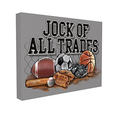 The Kids Room By Stupell Jock Of All Trades Sports Balls Canvas Art, 16 X 20