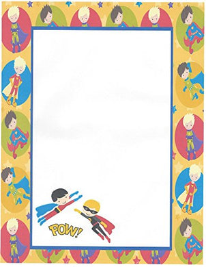 Kids Superheros Stationery Printer Paper 26 Sheets