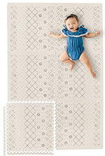 Load image into Gallery viewer, Stylish Extra Large Baby Play Mat Soft Playmat, Thick Comfortable Foam. Six 24 X 24 Floor Tiles With Edges For Babies. Non-Toxic, No Odors, Spill Resistant, Durable. Yay Mats Puzzle Mat 4 Tummy Time