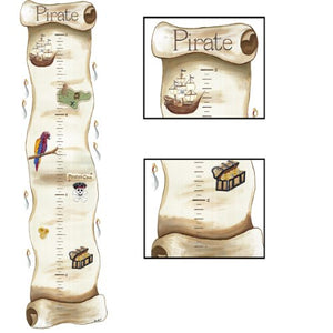 Pirate Ship Map Growth Chart Sherri Blum Wall Sticker