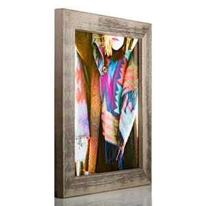 Craig Frames Gesso, Gray Plain Wooden Picture Frame, 11 By 17-Inch