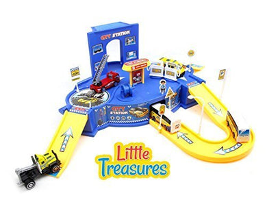 Little Treasures Toy, Center City, Scene Of A Busy City With Child