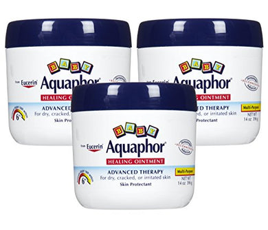 Eucerin Aquaphor Baby Healing Ointment Diaper Rash & Dry Skin Protectant, 14 Ounce,