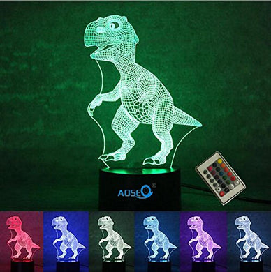 3D Led Night Light 7 Colors Dinosaur Table Lamp Night Light For Christmas Gifts