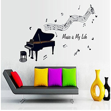 Cool Diy Vinyl Art Musical Notes Piano Wall Stickers Home Decor Paster Hot