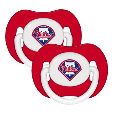 Philadelphia Phillies Infant Pacifier Set - 2014 Mlb Solid Color Baby Pacifiers