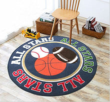 Load image into Gallery viewer, Baby Boy Sport Area Rug 39  Round Kids Sports Area Rug