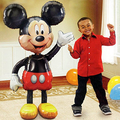 Jumbo Birthday Foil Balloon Mickey Mouse Airwalker 52  Decoration Party Supplies