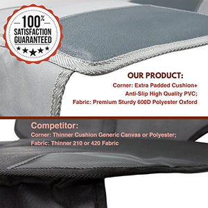 Car Seat Protector Under Baby Carseat- Extra Padded For Xl Size Car Seat-Waterproof&Amp;Durable Premium Materials-Extra Large Storage Pocket - Prevents Dirt And Damage On Leather Car Seat(Grey)