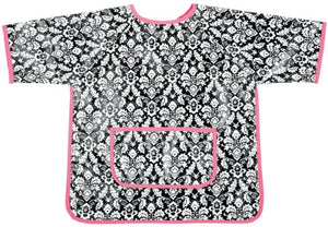 Am Pm Kids! Paint Smock, Damask With Hot Pink