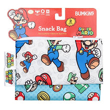 Load image into Gallery viewer, Bumkins Nintendo Super Mario Snack Bags, Reusable, Washable, Food Safe, Bpa Free, - Mario &Amp; Luigi
