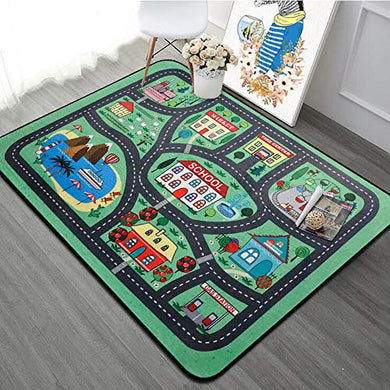 Ruihome Children Boys Girls Educational Play Rug Soft Baby Crawling Mat For Bedroom Living Room Playroom Nursery Hard Surface - 47  X 71