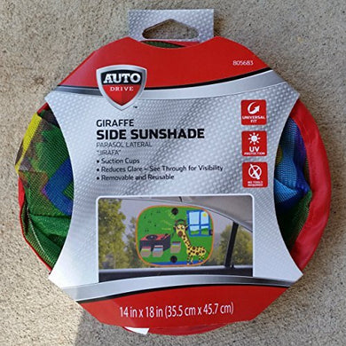 Auto Drive Giraffe Side Window Sunshade - Universal Fit