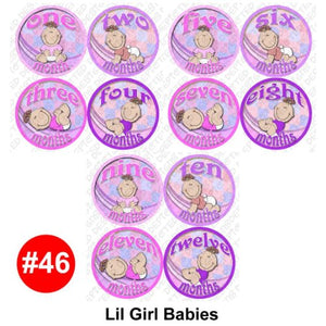 Girl Babies Baby Month Onesie Stickers Baby Shower Gift Photo Shower Stickers, Baby Shower Gift By Onesiestickers