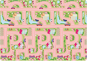 Crawlnroll Eco-Friendly Baby Playmat_City Road(Girl)/Retro _Large